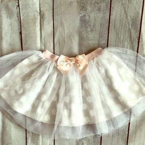 David Tutera Tulle skirt with bow